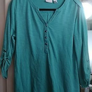 Chico's teal pullover blouse